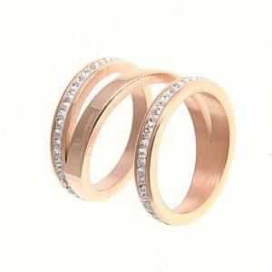 Ροζ χρυσό σπειροειδές δαχτυλίδι b3c720e7d6d